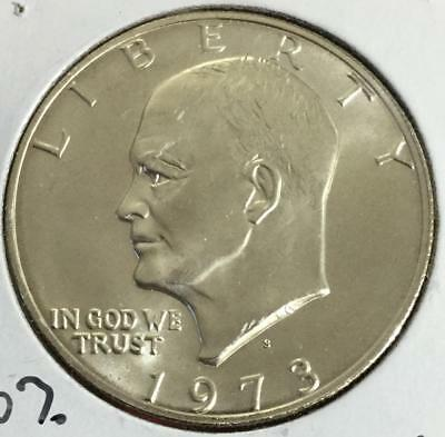 "1973S $1 Choice Uncirculated SILVER Eisenhower ""IKE"" Dollar! Lower Mintage!"