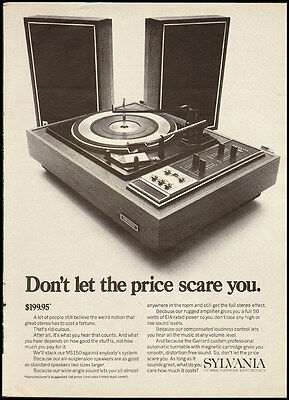 1968 vintage ad for Sylvania MS150 Stereo Systems  -090112