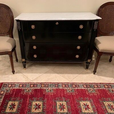 Elegant Mid-Century French Louis XVI Inspired Marble Top Buffet by FrontGate!