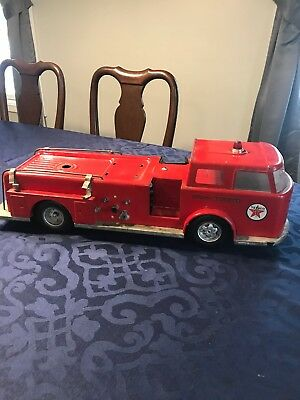 Vintage Buddy L Texaco Fire Chief Fire Engine Truck 1960's Pressed Steel