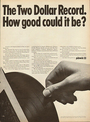1965 vintage Ad, Pickwick /33,  the TWO dollar Record! (remember those?) 122213
