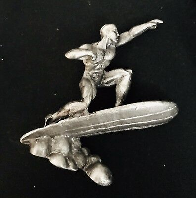 Pewter SILVER SURFER Superhero Fantastic Four Marvel Silver Metal Figurine
