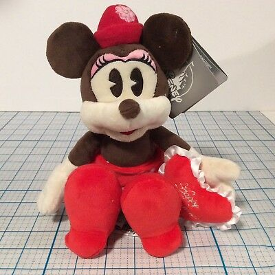 DISNEY PARKS Minnie Mouse Valentine Valentines Day 9 Inch Plush Doll NEW NWT
