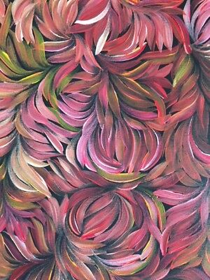 JACINDA HAYES  Original painting of Bush Leaves 90 x 94 cms, unstretched