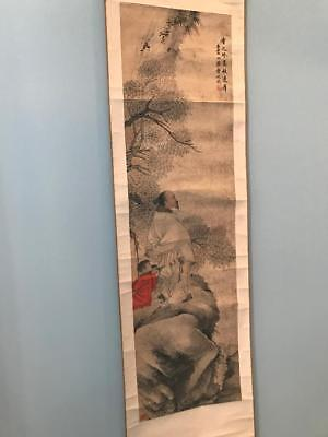 Antique Chinese Tree Scroll Painting, Signed, Seal, Original