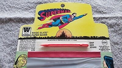 * SUPERMAN 1979 Magic Slate Paper Saver  NM ORIGINAL Owner Collection *