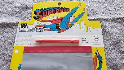 * SUPERMAN 1978 Magic Slate Paper Saver  NM ORIGINAL Owner Collection *