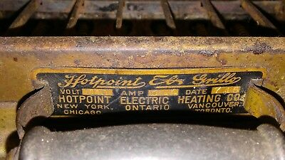 Antique Hotpoint Electric Grille, 1945