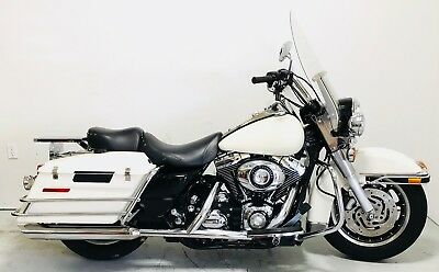 2007 Harley-Davidson Touring  2007 Harley Davidson Road King Police FLHP 103 Cubic inch 6-speed Lowered White