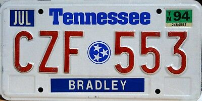 USA Number Licence Plate TENNESSEE STATE FLAG