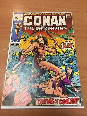 Rare 1970 Bronze Age Conan The Barbarian #1 Key Issue Complete Nice