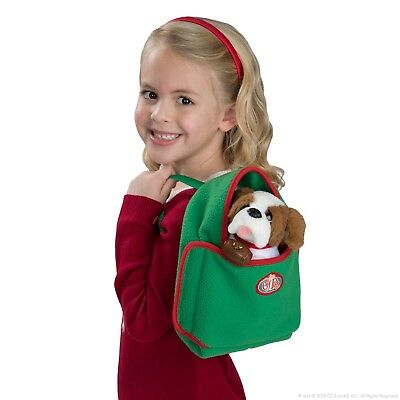 NIP-Elf on the Shelf-Elf Pets Snooze 'n Cruise-Backpack Carrier/Cozy Bed New
