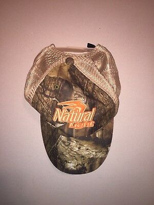 NEW Natural Light Beer Hat Mossy Oak Camo Camouflage Snap Back Anheuser Bush NWT
