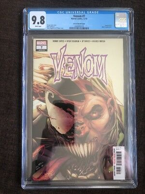 Venom #7 (2018) CGC 9.8 Secret Variant Cover 1st Print Donny Cates Ryan Stegman