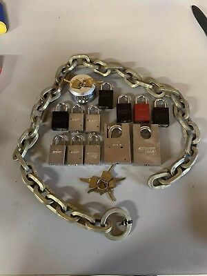 American Lock Padlock lot 1105 746 2000 5100 Kryptonite Chain with Keys