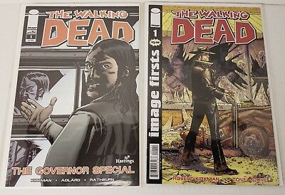 The Walking Dead 2 Book Lot Governor Special Hastings Variant Image Firsts #1 Nm