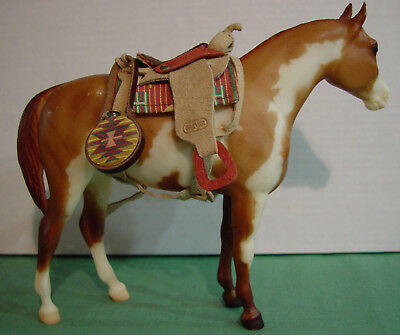 Breyer Western Saddle with Accessories Canteen, Saddlebags, Blankets Lot