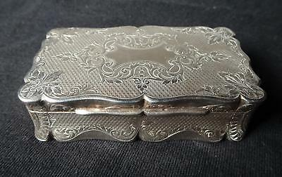 ANTIQUE Silver Box Oporto Portugal 19th Century w/Hallmarks & Carving Marks VTG