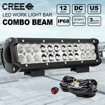 """12 Inch 72W Cree Led Work Light Bar Flood Spot Suv Driving Lamp Offroad 4WD 22"""""""