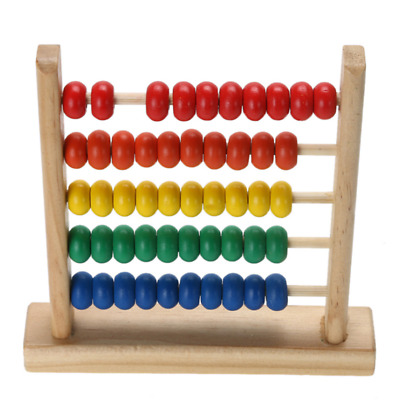 Mini Wooden Calculating Abacus Kids Counting Number Math Educational Frame Toy