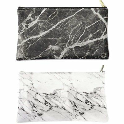 Marble Purse Box Travel Makeup Cosmetic Make Up Storage Bag Organizer Pouch New