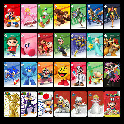 28PCS PVC NFC Tag Game Cards Super Mario Odyssey Mario Kart 8 Deluxe for Switch