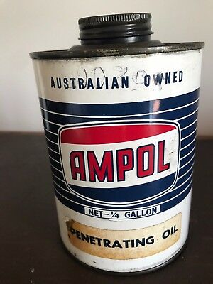 Ampol Oil Tin - 1/4 Gallon - Penetrating Oil - Excellent Colour