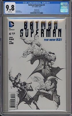 Batman/superman #4 - Cgc 9.8 - Jae Lee Limited Sketch Variant - 0305701015