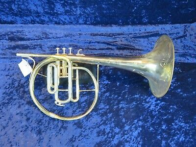 "Vox ""Stan Kenton Style"" F Mellophone Ser#694 Big Sound Good Player!"