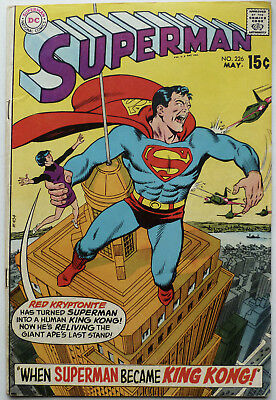 Dc Superman Comics #226 *1970 * Red Kryptonite * King Kong * Titano * Vg *