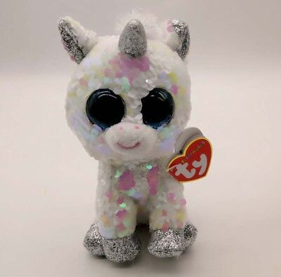 """Ty Beanie Boos Flippables 7/"""" Bonnie Pink Rabbit  Color Changing Sequin Plush S"""