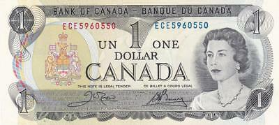 Lot of 10 1973 Bank of Canada $1 Bill Crow Bouey ECE 5960550 - 5960559