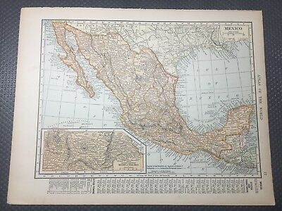 1905 Antique Hammond Two-Sided Map - Mexico and Central America