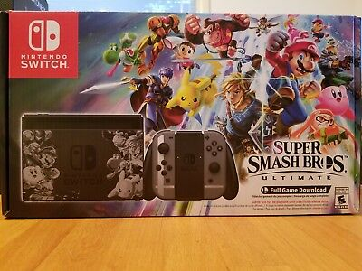 Super Smash Bros Ultimate Edition Nintendo Switch Console Bundle *Unopened*