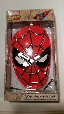 Spiderman Wobble Clock, brand new awesome collectible