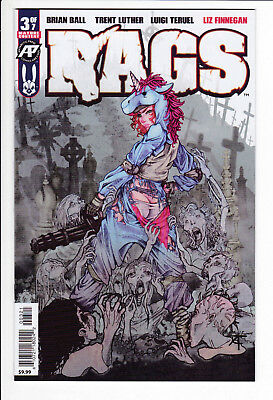 RAGS #3B VF/NM 1st Printing Antarctic Press Comics 2019 Brian Ball Trent Luther