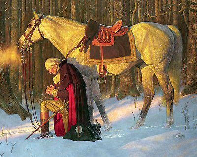 George Washington, Prayer at Valley Forge 16 x 20