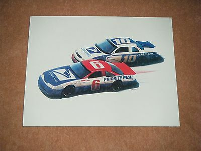 Usps / Post Office / Postal Service Nascar Racing Print
