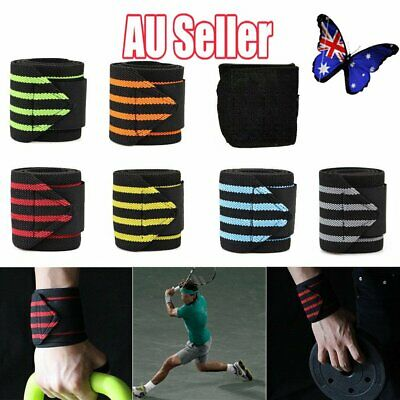 Wrist Wraps Straps Weightlifting Gym Training Wrist Support Straps Elastic VW