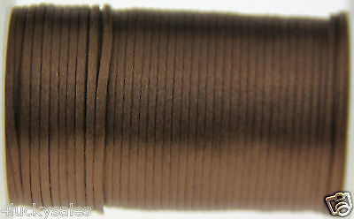 Hot 10yd brown 2MM Rattail Satin Cord Macrame Beading Nylon Chinese knot rope