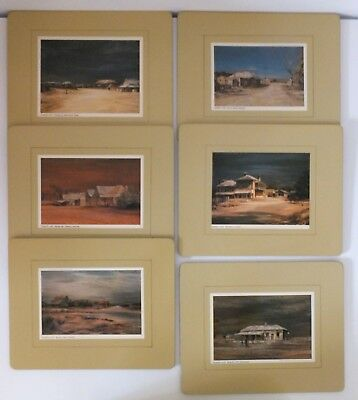 Vintage Collectable Placemats Paintings of Old Australian Towns by Kenneth Jack