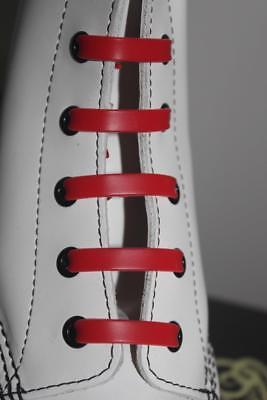 Silicone Stretch No Tie Disability Kids Red Shoe Laces - In Stock Now in Oz!