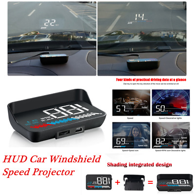 Head Up Display USB OBD GPS Car Windshield Speed Projector MPH KMH General Suit
