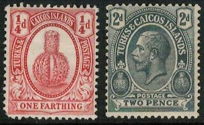 Lot 5201 - Turks and Caicos Islands - Two MH definitive stamps from 1909 & 1913