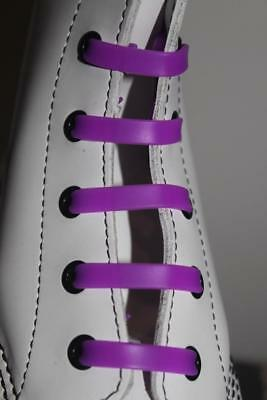 Silicone Stretch No Tie Disability Kids Purple Shoe Laces - In Stock Now in Oz!