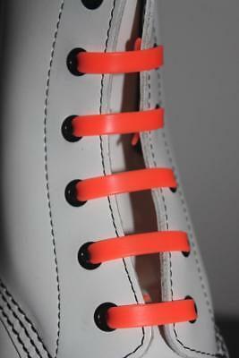 Silicone Stretch No Tie Disability Kids Orange Shoe Laces - In Stock Now in Oz!