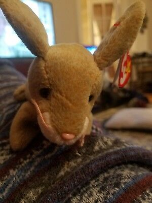 1999 - Nibbly - Ty Beanie Baby Collection - Brown Bunny Rabbit