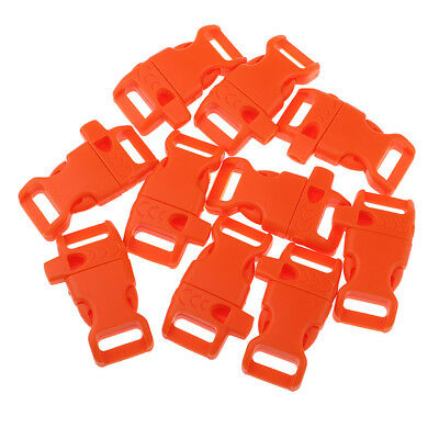 10Pcs Side Release Fasteners Squeeze Buckle Clip for Paracord Bracelet, Bag