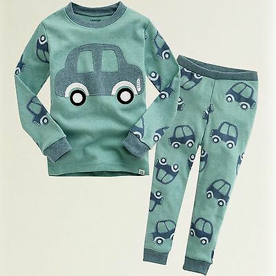 "Vaenait Baby Toddler Clothes Pjs Kids Boys Sleepwear Set ""Mini Car"" S(2T)"