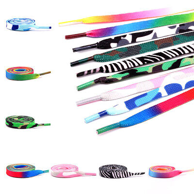 Rainbow Multi-Colored Canvas Athletic Shoelace Shoe Laces Free Shipping String
